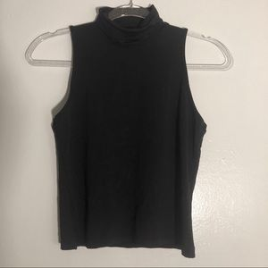 French Connection UK High Neck Short Sleeved Top